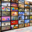 Stock Photo: HDTV broadcast concept