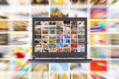 HDTV internet broadcast — Stock Photo
