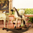 Vintage wooden rocking horse toy — Stock Photo #49255969