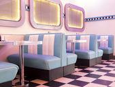 50s style burger — Stock Photo