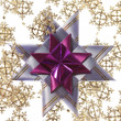 Stock Photo: Big purple star on silver garland