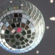 Christmas disco ball with sunlight spots — Stockfoto