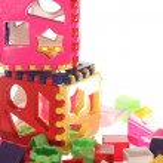 construção de par cubo lógico com detalhes diferentes — Foto Stock