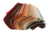 Patterns of different colors upholstery fabrics — Stock Photo