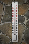 Thermometer on the wall — Stock Photo