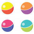 Different ball toys — Stock Vector