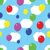 Balloons seamless cloud texture — Vector de stock