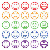 Set of different smiles — Stock Vector
