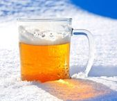 Beer snow — Stock Photo