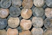 Wood circle floor — Stock Photo
