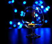 Candle glass bokeh — Stock Photo