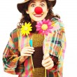 Woman clown — Stockfoto