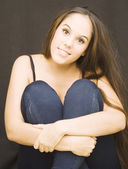 Beautiful Brunette Girl — Stock fotografie