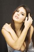 Bella ragazza bruna — Foto Stock