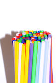 Straws in many different colors — Stock Photo