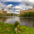 Stock Photo: Castles on river's shore