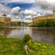 Castles on the river's shore — Stock Photo