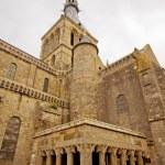 Monastery Tower in Mont Saint Michel landmark. Normandy, France. — Stock Photo