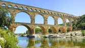 Roman aqueduct Pont du Gard, Unesco site.Languedoc, France. — Photo