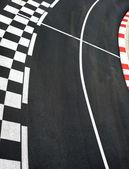 Asfalto de corrida de carro no circuito de rua de grand prix de monaco — Foto Stock