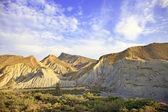 Tabernas desert mountains, andalusia, spain, cinema movie locati — Stock Photo