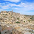Matera ancient town i Sassi, unesco site landmark. Basilicata, I — Stock Photo