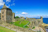 St Andrews Castle ruins medieval landmark. Fife, Scotland. — Stockfoto