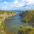 Smoo Cave bay landscape in Durness. Highlands of Scotland, Uk — Stock Photo #13407780