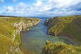 Smoo Cave bay landscape in Durness. Highlands of Scotland, Uk — Stock Photo