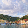 Portofino luxury village landmark, panorama view. Liguria, Italy — Stock Photo