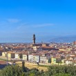 Florence aerial cityscape. Panorama view from Michelangelo park — Stock Photo