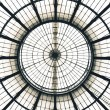 Glass Ceiling Dome pattern, Vittorio Emanuele II Gallery, Milan — Stock Photo