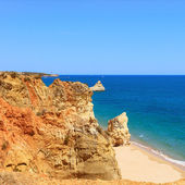 Rock Beach Praia da Rocha in Portimao. Algarve. Portugal — Stock Photo