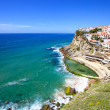 Azenhas do Mar white village, cliff and ocean, Sintra, Portugal. - Stock Photo