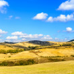 Rural Landscape of Tuscany near Volterra, Italy. — Stock Photo