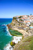 Azenhas do Mar white village, cliff and ocean, Sintra, Portugal. — Photo