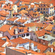Roofs and white houses view in Alfama district, Lisbon. Portugal — Stock Photo