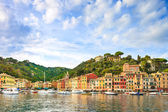 Portofino luxury village landmark, panorama view. Liguria, Italy — Foto Stock