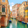 Stock Photo: Venice cityscape, water canal and traditional buildings. Italy