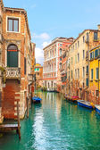 Venice cityscape, water canal and traditional buildings. Italy — Stok fotoğraf