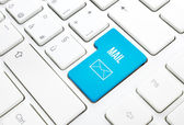 Web Mail business concept blue enter button or key on white keyboard — Stock Photo