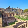 Roman forum ruins panorama. Unesco heritage site. Rome, Italy. — Stock Photo