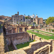 Roman forum ruins panorama. Unesco heritage site. Rome, Italy. - Stock Photo