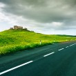 Tuscany, farm and road in Rural Landscape near Volterra in spring, Italy. — Stock Photo