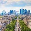 La Defense business area, Grande Armee avenue. Paris, France — Stock Photo