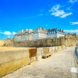 Royalty-Free Stock Photo: Saint Malo city walls and beach. Brittany, France.
