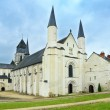Fontevraud Abbey, west facade church. Religious building. Loire Valley. France. — Stock Photo #26823071