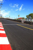 Monaco, Monte Carlo. Sainte Devote straight race asphalt, Grand Prix circuit — Stock Photo
