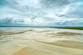 Low tide in Mont Saint Michel Bay. Normandy, France. — Stock Photo
