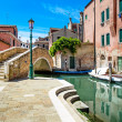 Venice cityscape, water canal, bridge and traditional buildings. — Stock Photo #29005947